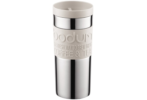 Bodum TRAVEL MUG Travel mug, 0.35 l, Edelstahl cremefarben