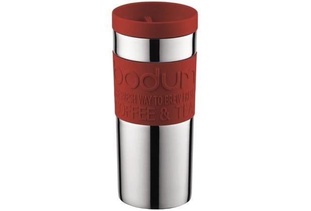 Bodum TRAVEL MUG Travel Mug, 0.35 l, Edelstahl rot