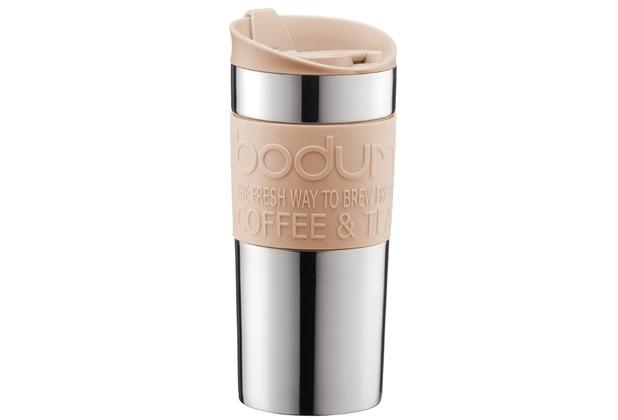 Bodum TRAVEL MUG Travel Mug, Doppelwandig, Edelstahl, 0.35 l creme