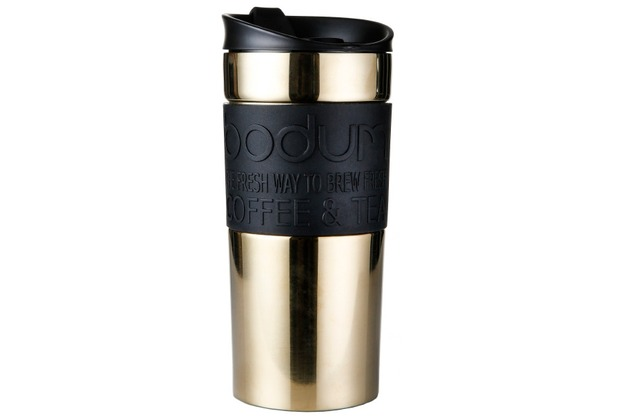 Bodum TRAVEL MUG Travel Mug, Edelstahl, doppelwandig, 0.35 l gold