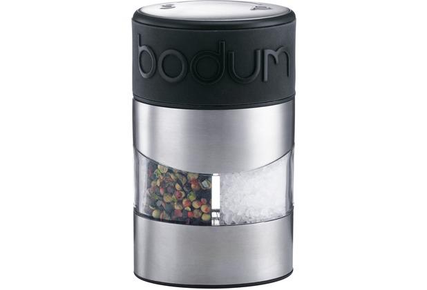 Bodum TWIN Salz- und Pfeffermühle schwarz