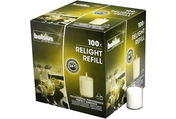 Bolsius ReLight Nachfüller 100er Box transparent