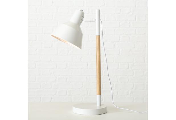 Boltze Tischlampe H52cm weiss