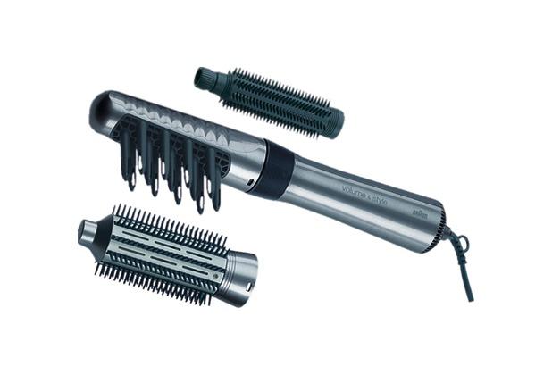 Braun Warmluftlockenbürste AS330 Satin Hair 3, silber-schwarz