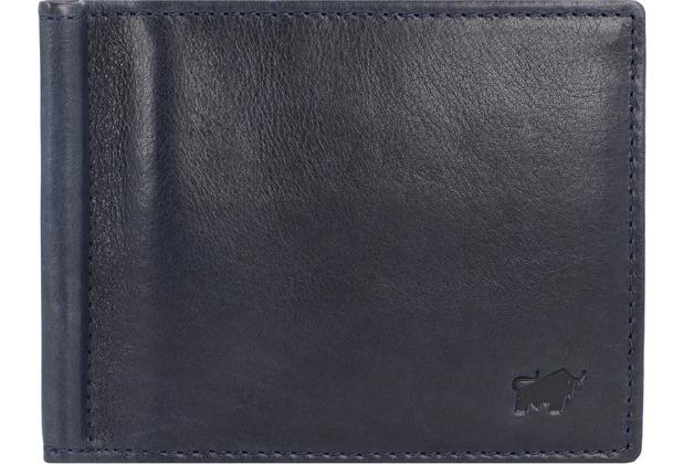Braun Büffel Arezzo Geldbörse RFID Leder 11 cm d. blau