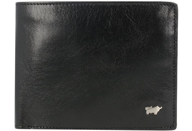 Braun Büffel Country Secure Geldbörse RFID Leder 12 cm schwarz