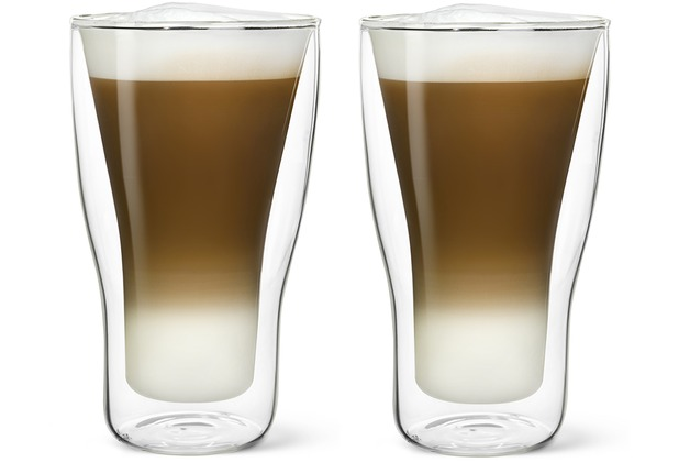 Bredemeijer Glas doppelwandig Latte Macchiato, 34 cl, 2-er Set