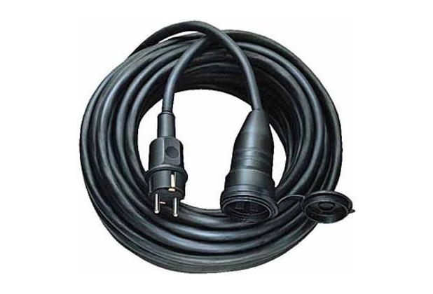 Brennenstuhl Gummikabel IP 44, Schwarz 5m