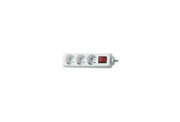 Brennenstuhl Steckdosenleiste 3-fach mit Schalter, weiß