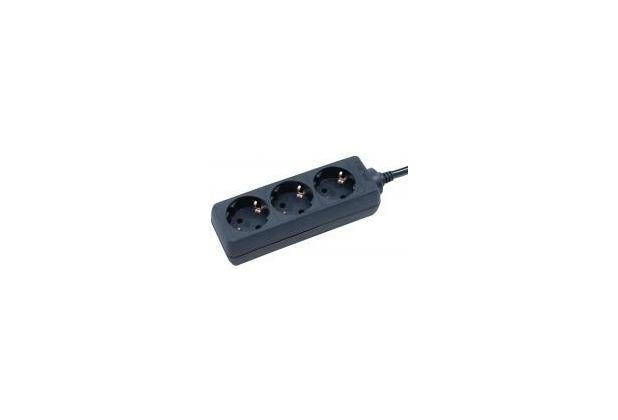Brennenstuhl Steckdosenleiste 3-fach, ohne Schalter, schwarz