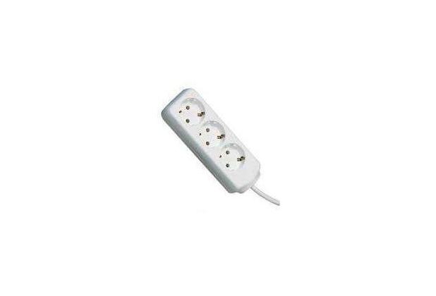 Brennenstuhl Steckdosenleiste 3-fach, ohne Schalter, weiß