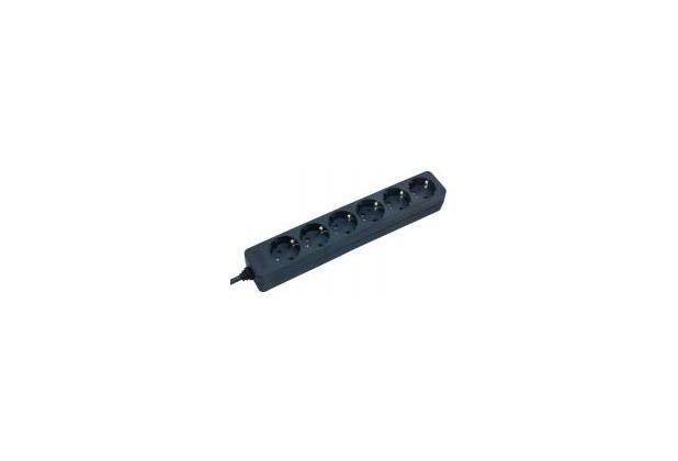 Brennenstuhl Steckdosenleiste 6-fach, ohne Schalter, schwarz