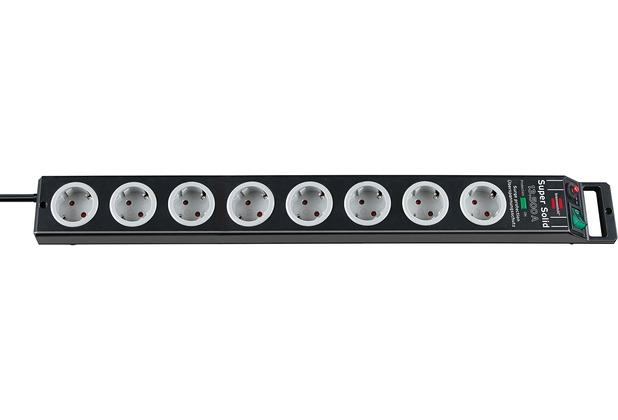 Brennenstuhl Super-Solid ÜSS 8 Steckdosen, schwarz 2,5m Kabel