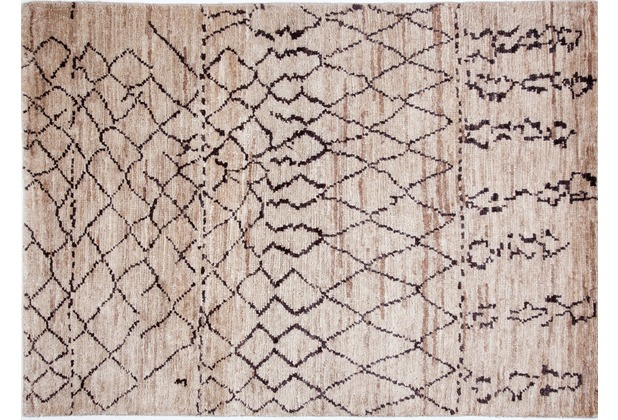 Brigitte Home Teppich Global Passion 302 beige handgeknüpft 140 cm x 200 cm