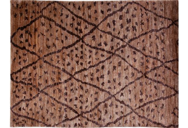 Brigitte Home Teppich Global Passion 303 braun handgeknüpft 140 cm x 200 cm