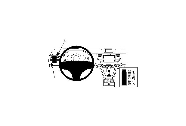 Brodit ProClip - HONDA CR-V Baujahr 2012-2016 (Montage links)
