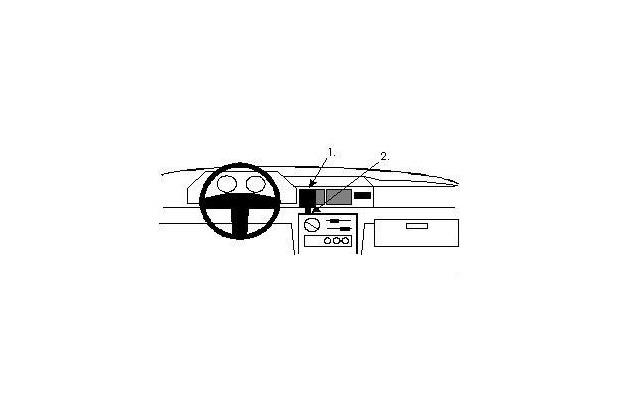 Brodit ProClip - FORD Fiesta Baujahr 1989-1995 (Montage mittig)