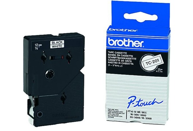 Brother TC-Band 201, 12mm breit, weiß