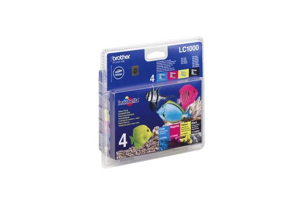 Brother Tinten Multipack LC-1000 Value Pack (4er Set)