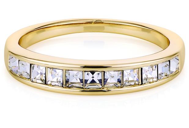 Buckley London Ring Messing goldfarben Kristall gelb 22289 50 (15,9)