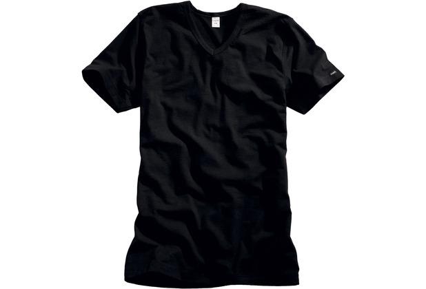 Bugatti Shirt mit V-Neck Basic schwarz 5