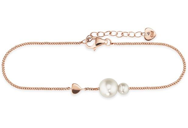Cai Armband 925/- Silber rotvergoldet Perlen  20641