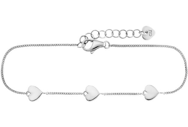 Cai Armband 925/- Sterling Silber rhodiniert Herz weiß 21659