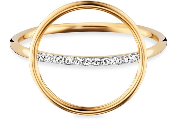 Cai Ring 925/- Sterling Silber gelb vergoldet Topas  21165 50 (15,9)