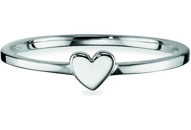 Cai Ring 925/- Sterling Silber rhodiniert Herz weiß 21711 50 (15,9)