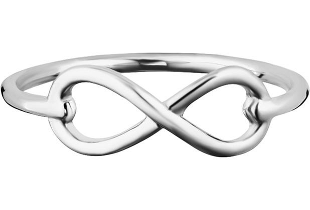 Cai Ring 925/- Sterling Silber rhodiniert Infinity weiß 21799 50 (15,9)