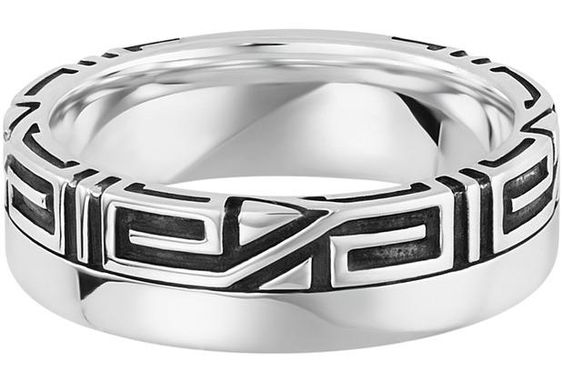 Cai Ring 925/- Sterling Silber rhodiniert Ornament weiß 21251 58 (18,5)