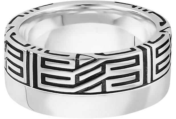 Cai Ring 925/- Sterling Silber rhodiniert Ornament weiß 21257 58 (18,5)
