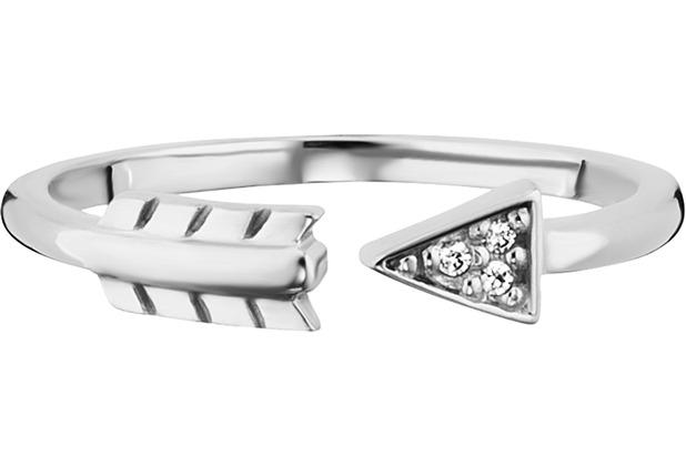 Cai Ring 925/- Sterling Silber rhodiniert Zirkonia Pfeil weiß 21795 50 (15,9)
