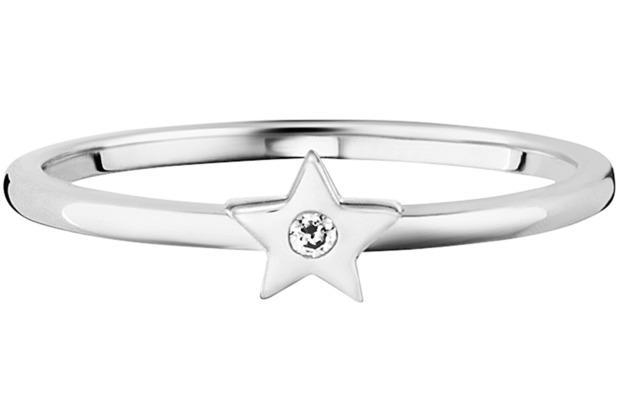 Cai Ring 925/- Sterling Silber rhodiniert Zirkonia Stern weiß 21789 50 (15,9)