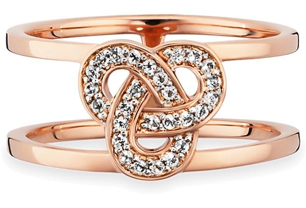 Cai Ring 925/- Sterling Silber rotvergoldet Topas  19863 50 (15,9)