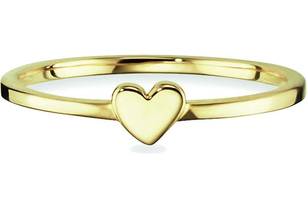 Cai Ring 925/- Sterling Silber vergoldet Herz gelb 21709 50 (15,9)