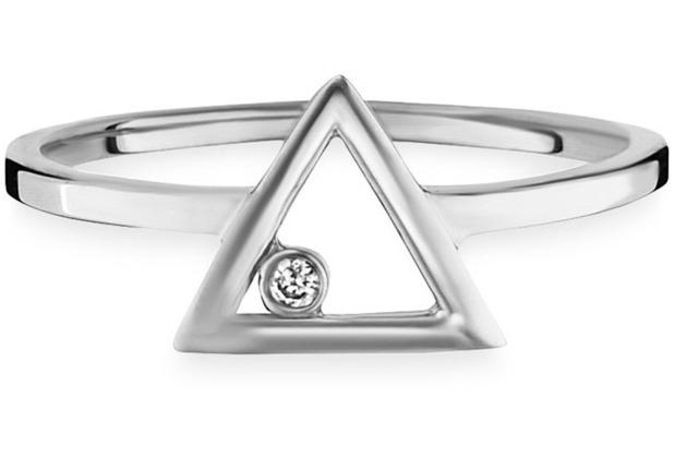 Cai Ring 925/- Sterling Silber vergoldet Zirkonia weiß 21727 50 (15,9)
