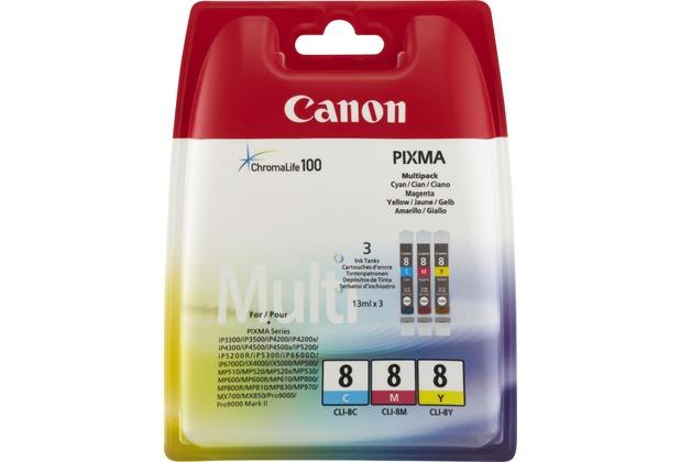 Canon Tinten Multipack CLI-8C/8M/8Y