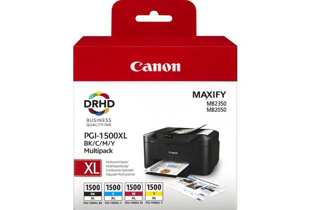 Canon Tinten Multipack PGI-1500XL BK/C/M/Y