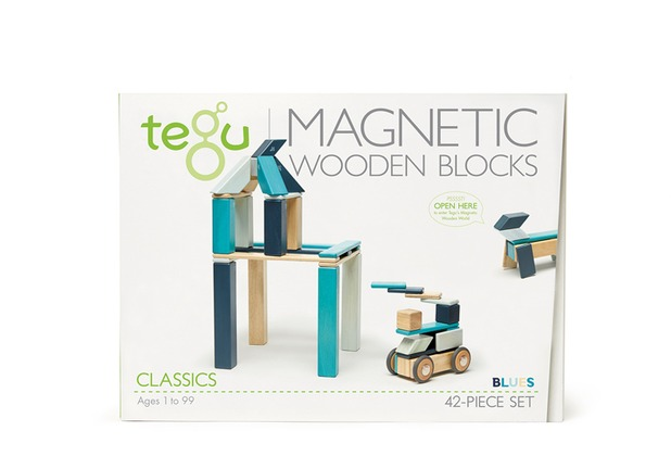Tegu Magnetisches Holzset blau 42 Teile
