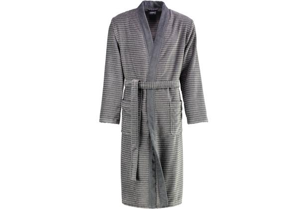 cawö Bademantel Kimono stein 48