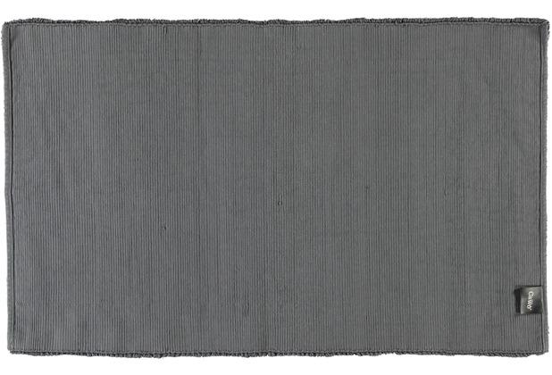 cawö Badteppich (handgewebt) anthrazit 60 cm x 100 cm