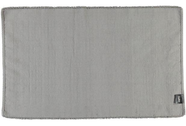 cawö Badteppich (handgewebt) graphit 60 cm x 100 cm