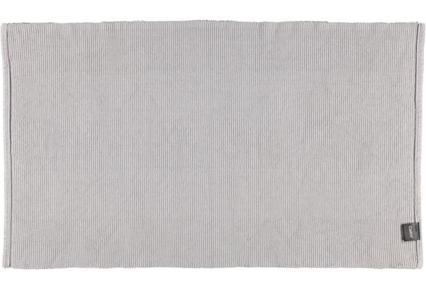 cawö Badteppich (handgewebt) platin 60 x 100 cm