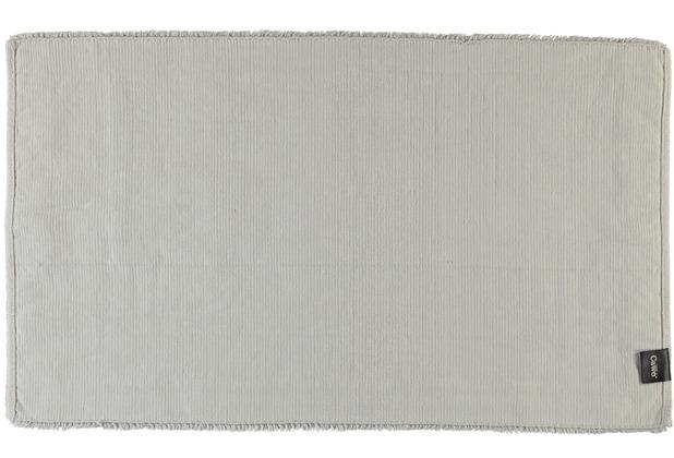 cawö Badteppich (handgewebt) silber 60 cm x 100 cm