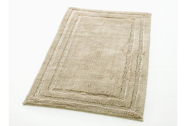 cawö Badteppich (rutschfest) sand 60 cm x 60 cm