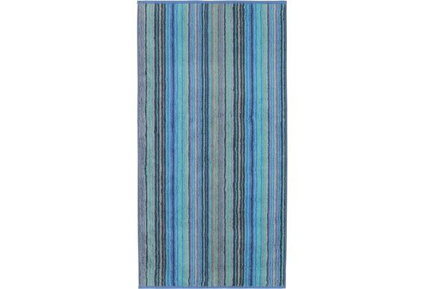 cawö Duschtuch blau 80 x 150 cm, bunte Streifen
