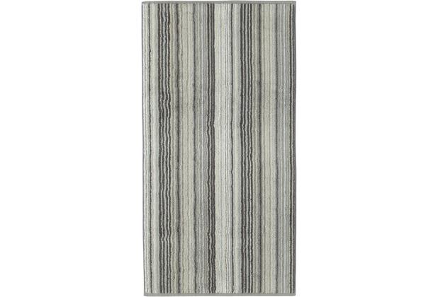 cawö Duschtuch graphit 80 x 150 cm, bunte Streifen