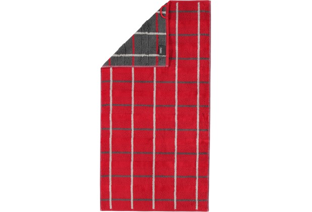 cawö Duschtuch rot 80 x 150 cm, kariert