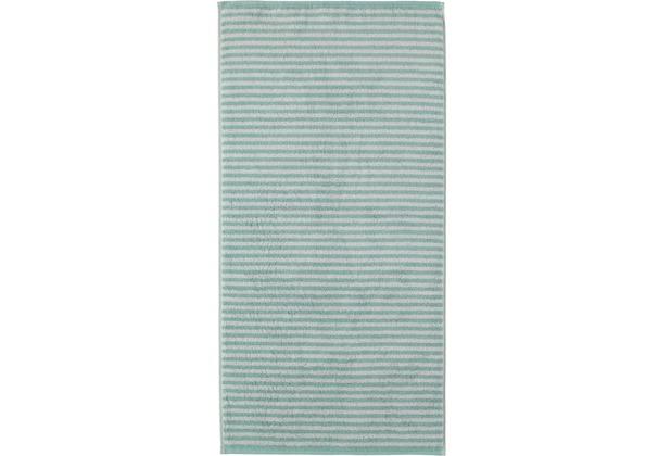 cawö Duschtuch seegrün 70 x 140 cm Querstreifen